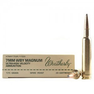 Weatherby Ultra-High Velocity 7mm Weatherby Magnum 20rd Ammo