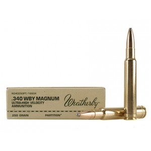 Weatherby Select Plus 340 Weatherby Magnum 20rd Ammo