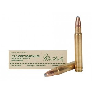 Weatherby Select Plus 375 Weatherby Magnum 20rd Ammo
