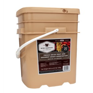 Wise Foods 120 Serving Freeze Dried Fruit & Snack Package