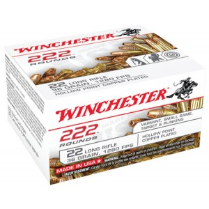 Winchester USA 22 Long Rifle 222rd Ammo