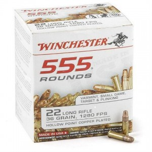Winchester USA 22 Long Rifle 555rd Ammo
