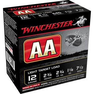 Winchester AA Light 12 Gauge 7.5 Shot 25rd Ammo