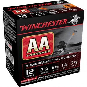 Winchester AA TrAAcker Orange Wad 12 Gauge 7.5 Shot 25rd Amm