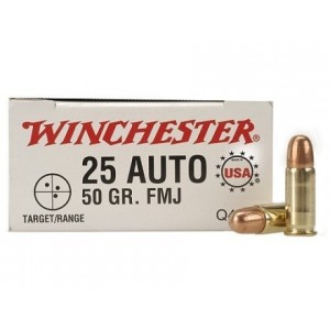 Winchester USA 25 ACP 50rd Ammo