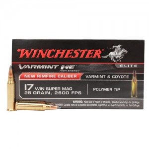 Winchester Varmint HE 17 Winchester Super Magnum 50rd Ammo