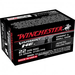 Winchester Varmint HE 22 Winchester Magnum Rimfire 50rd Ammo