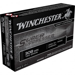 Winchester Super Suppressed 308 Winchester Subsonic 20rd Amm