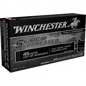 Winchester Super Suppressed 45 ACP Subsonic 50rd Ammo