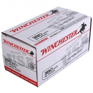 Winchester USA 380 ACP 100rd Ammo