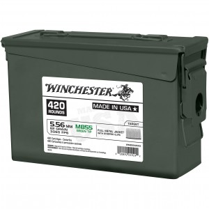 Winchester USA M855 Green Tip 5.56mm 420rd Ammo