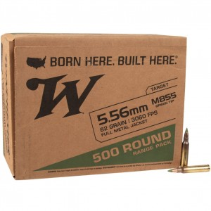 Winchester USA M855 Green Tip 5.56mm 500rd Ammo