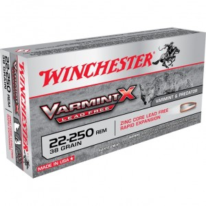 Winchester Varmint X Lead Free 22-250 Remington 20rd Ammo