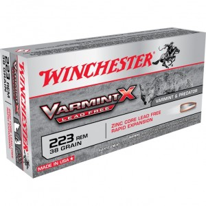 Winchester Varmint X Lead Free 223 Remington 20rd Ammo