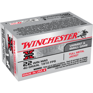 Winchester .22 Win Mag Ammunition 40gr 1910 FPS 50rd
