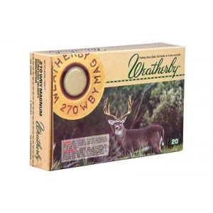 Weatherby Select Plus 270 Weatherby Magnum 20rd Ammo