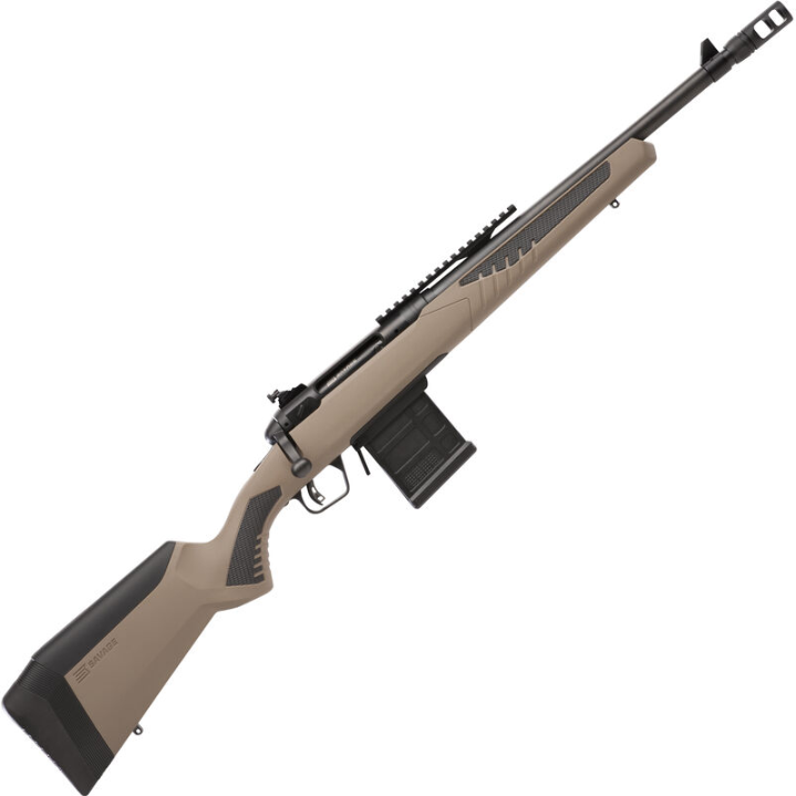 Savage 57026 10|110 Scout Bolt 308 Winchester|7.62 NATO 16.5 10+1 AccuFit FDE Stk Black in.