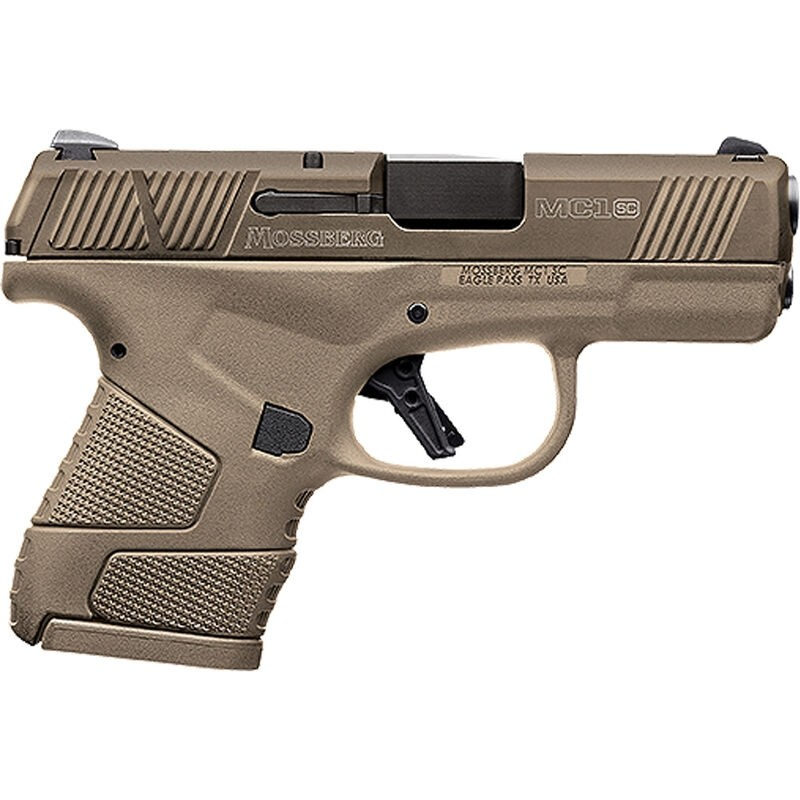 """Mossberg 89009 MC1 9mm Luger 3.40"""" 6+1 & 7+1 Flat Dark Earth Stainless Steel Flat Dark Earth Polymer Grip Flat Dark Earth Polymer Grip/Frame Grip"""