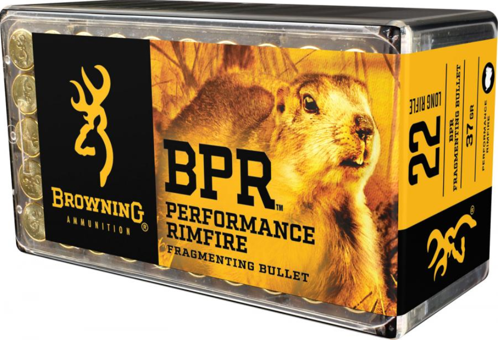 Browning Ammo B195122050 BPR Performance 22 Winchester Magnum Rimfire (WMR) 40 GR Jacketed Hollow Point 50 Bx| 20 Cs