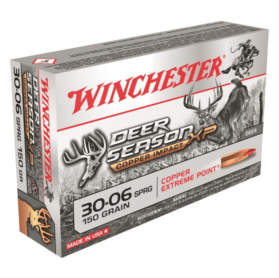 Winchester Ammo X3006DSLF Deer Season XP 30-06 Springfield 150 GR Extreme Point Lead Free 20 Bx| 10 Cs