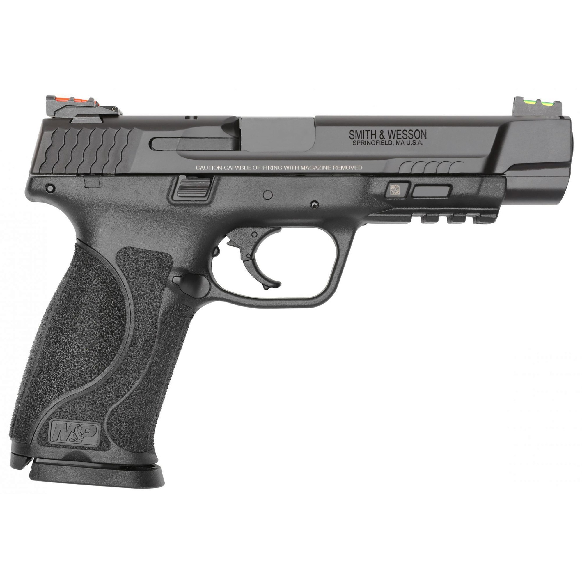 Smith & Wesson 11820 M&P 9 Performance Center M2.0 5.00in. 5in. 17+1 Black Armornite Stainless Steel Black Synthetic Grip
