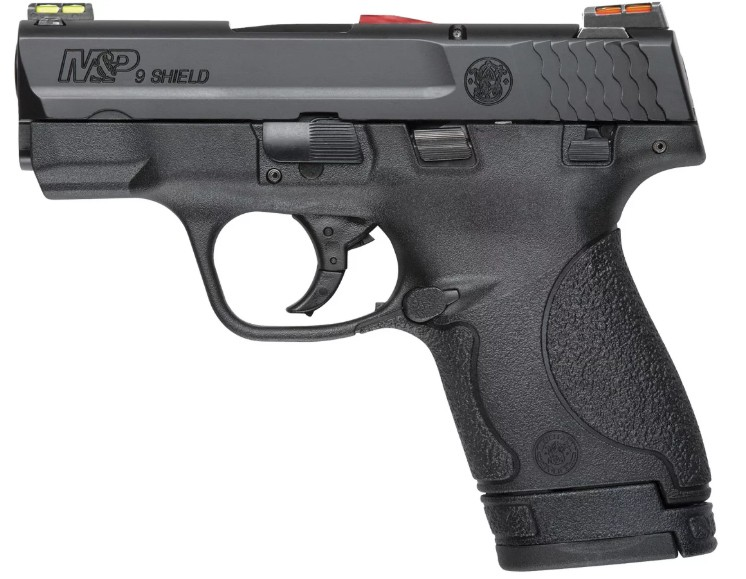 Smith & Wesson 11905 M&P 9 Shield *CA Compliant* 9mm Luger Double 3.1 7+1|8+1 Black Polymer Grip|Frame LCI|Mag Safety Black Armornite Stainless Steel Slide in.