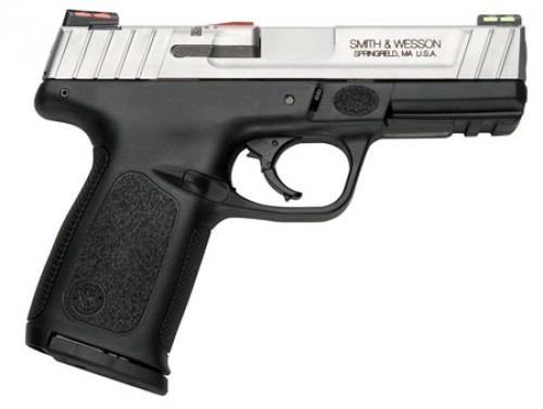 Smith & Wesson 11907 SD VE *CA Compliant* 9mm Luger Single|Double 4 10+1 Black Polymer Grip|Frame Stainless Steel Slide in.