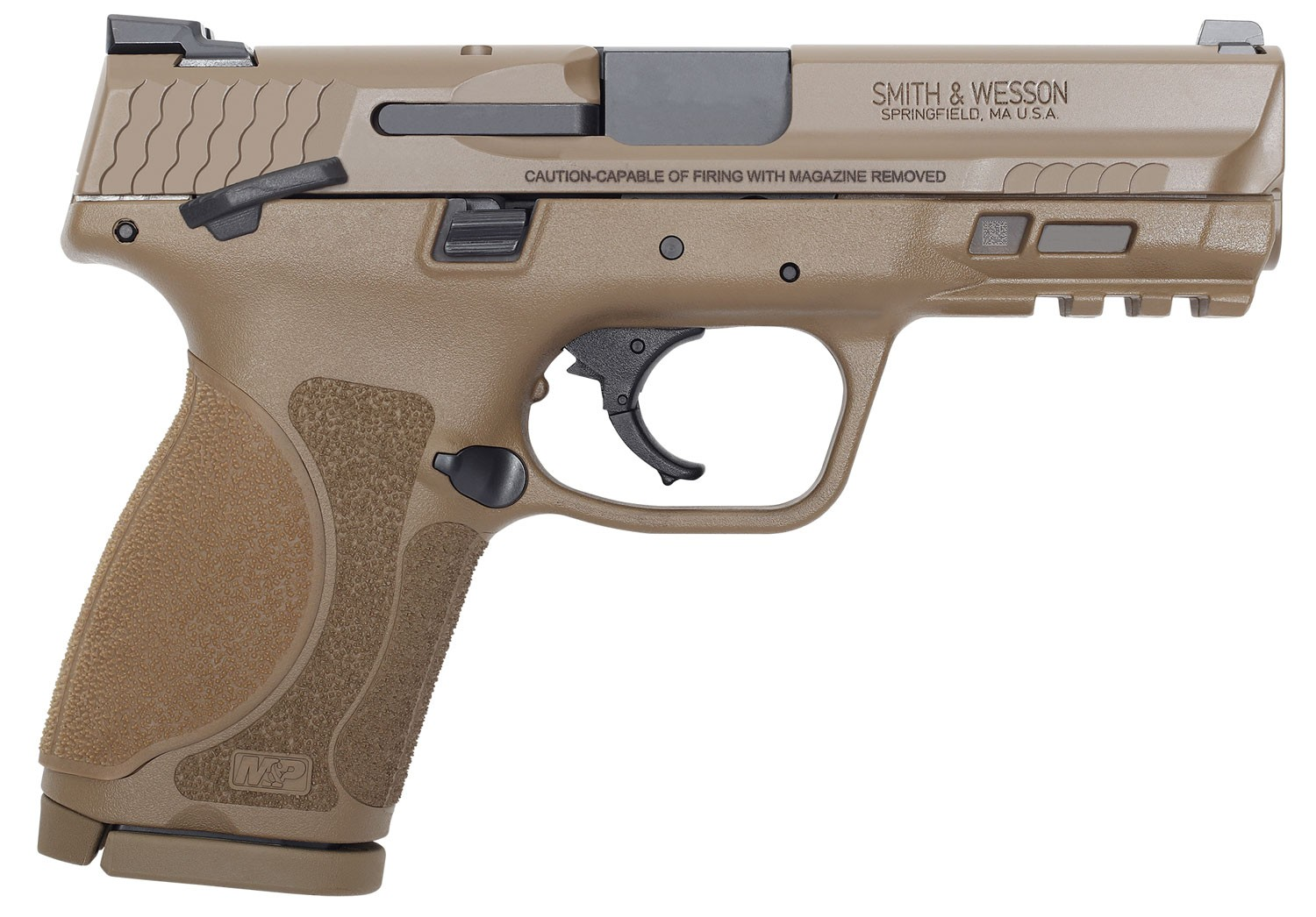 Smith & Wesson 12459 M&P 9 M2.0 Compact 9mm Luger 4in. 15+1 Flat Dark Earth Polymer Grip/Frame
