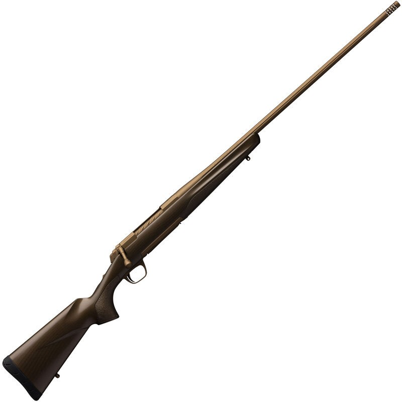 Browning X-Bolt Pro 30 Nosler 3+1 26in. Burnt Bronze Cerakote Fixed w/Textured Gripping Panels Stock Right Hand
