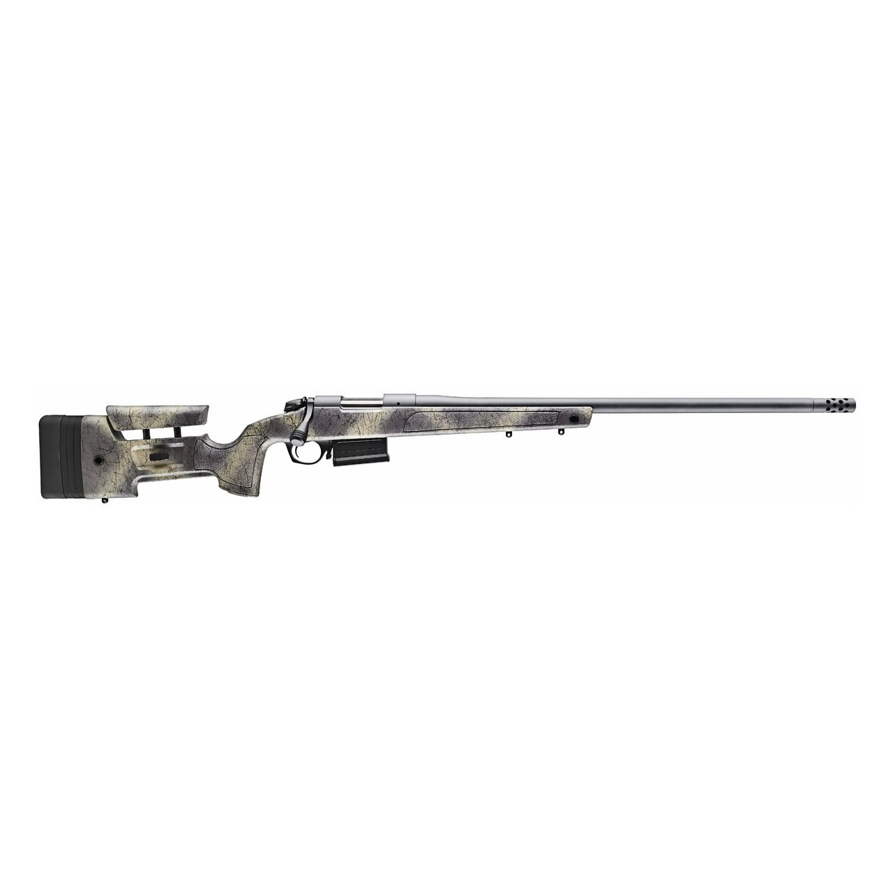 Bergara Rifles B-14 HMR Wilderness 6.5 PRC 3+1 24in. Woodland Camo Molded w/ Mini-Chassis Stock Matte Blued Right Hand