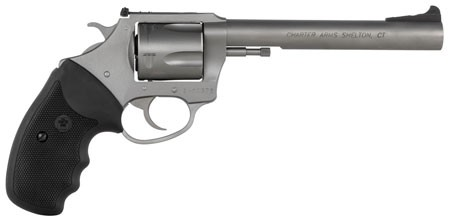Charter Arms 74460 Bulldog Target 44 S&W Spl 5 Round 6in. Matte Stainless Black Rubber Grip