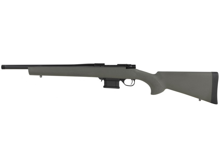 Howa Mini Action 300 BO 10+1 16in. OD Green Fixed HTI Pillar-Bedded Stock Black Right Hand