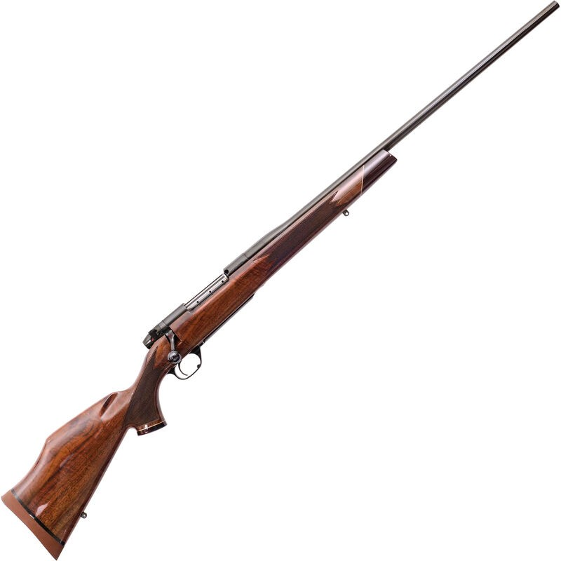 Weatherby MDX01N65RWR4O Mark V Deluxe 6.5 Wthby RPM 4+1 24in. Blued Gloss Walnut Monte Carlo Stock Right Hand