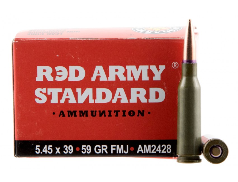 Red Army Standard AM2428 Red Army Standard  5.45x39mm 59 GR Full Metal Jacket Boat Tail 20 Bx| 50 Cs