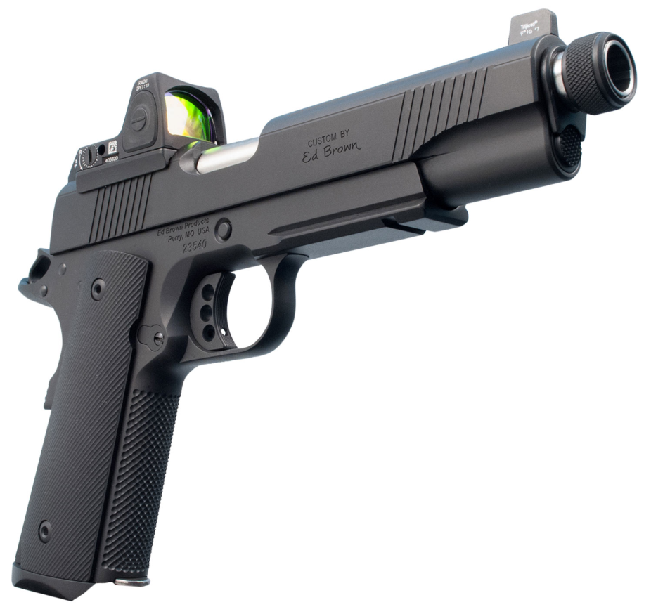 Ed Brown SR18G4 Special Forces SR Single 45 Automatic Colt Pistol (ACP) 5 TB 7+1 NS|Red Dot Black Polymer Grip Black Gen4 in.