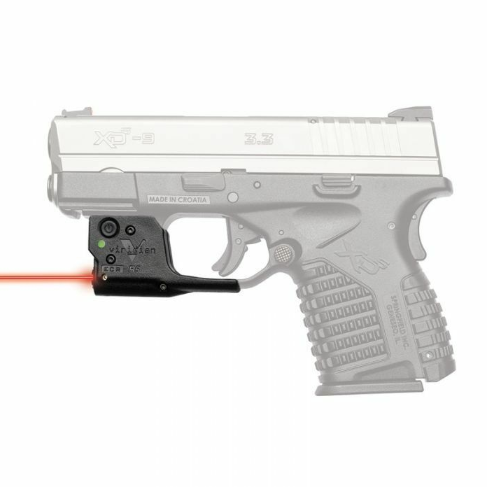 Viridian 9200019 Reactor R5-R Gen 2 Red Laser with Holster Black Springfield XDS