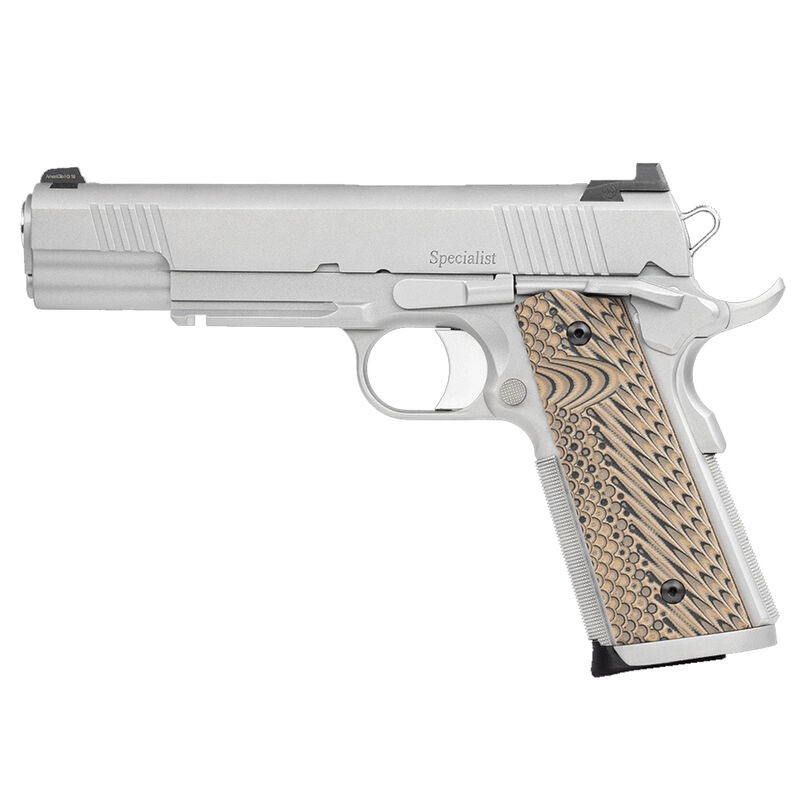 Dan Wesson 01815 Specialist 10mm Auto 5in. 8+1 Stainless Steel Black/Brown G10 Grip