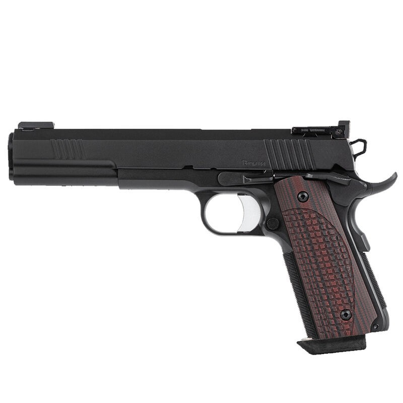 Dan Wesson 01840 Bruin 10mm Auto 6.03in. 8+1 Black Duty Finish Stainless Steel Brown G10 Grip