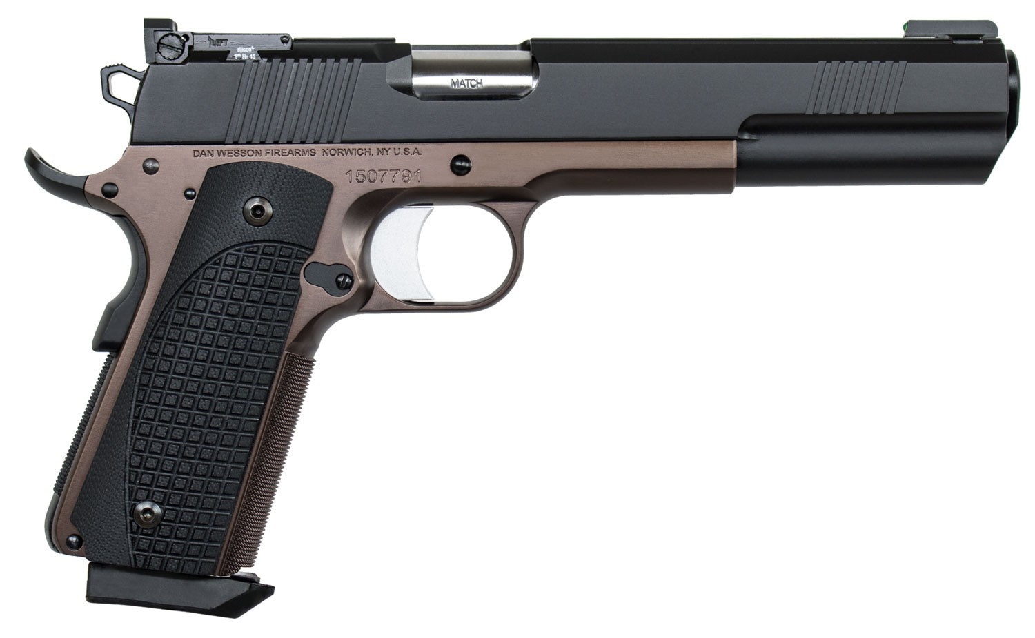 Dan Wesson 01841 Bruin 10mm Auto 6.03in. 8+1 Bronze Duty Finish Stainless Steel Brown G10 Grip