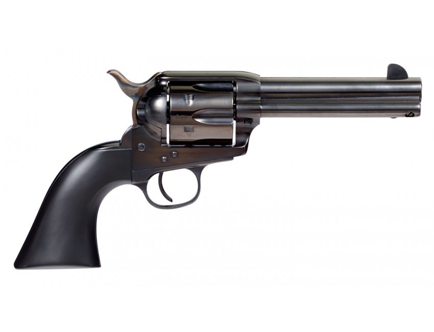 Taylors and Company 555161 Devil Anse Revolver Single 45 Colt (LC) 4.75in. 6 Rd Black Wood Grip Blued
