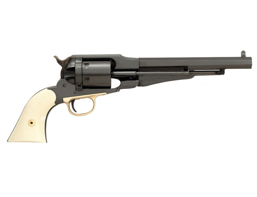Taylors and Company 1000G47 Lawdawg Revolver Single 45 Colt (LC) 8in. 6 Rd 2-Piece Ivory Grip Black