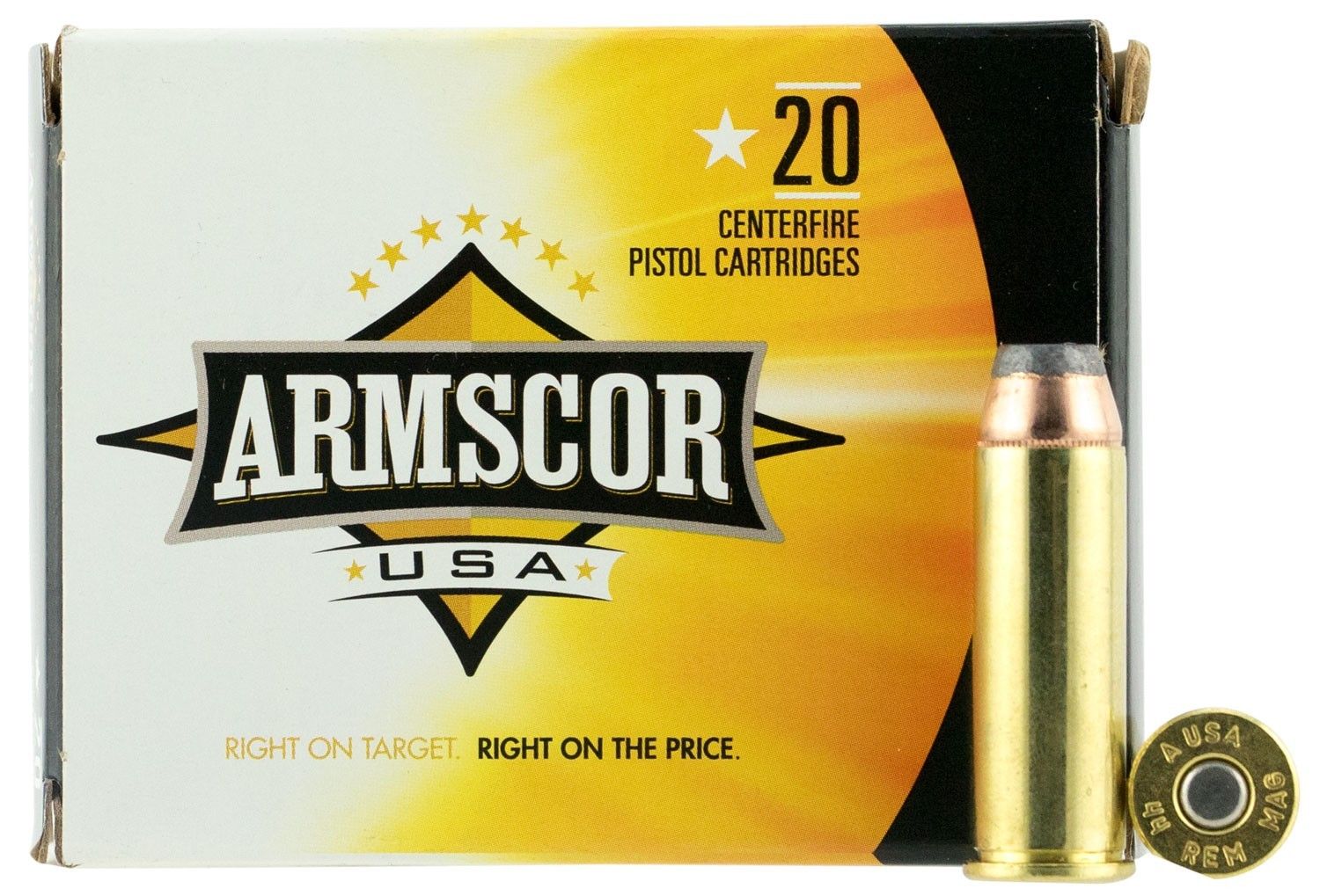 Armscor FAC44M2N Pistol 44 Rem Mag 240 GR Jacketed Hollow Point (JHP) 20 Bx/ 25 Cs