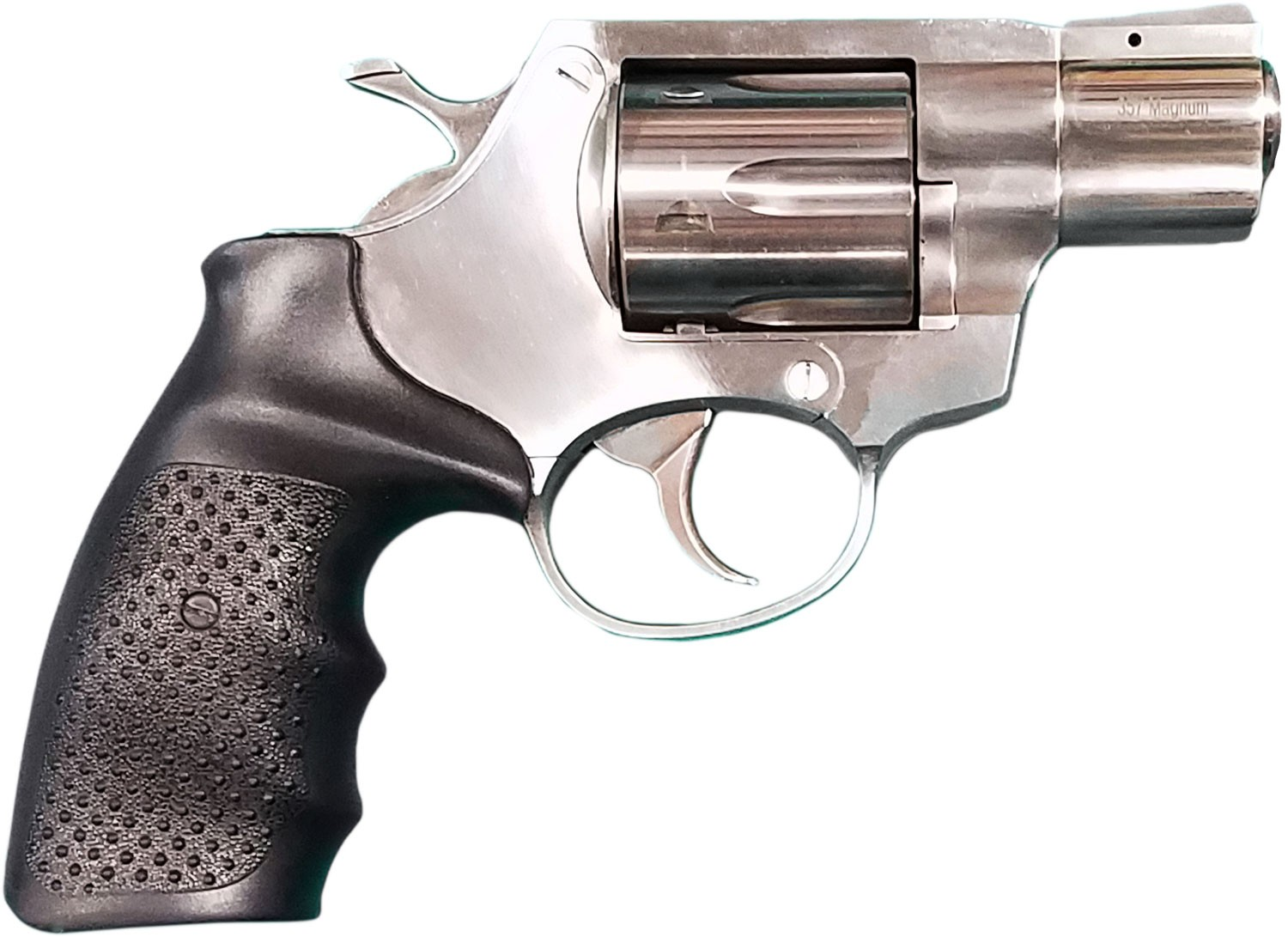Rock Island 3520S AL3.1 357 Mag 6 Round 2in. Stainless Steel Black Rubber Grip