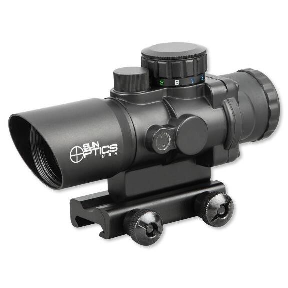 Sun Optics 3X32 Prismatic IR Red Dot Sight w/ Tactical Red/Green Reticle PS30332IR