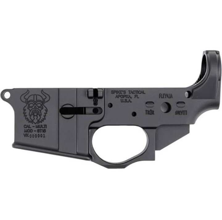 Spikes STLS031 Stripped Lower Viking AR Platform Rifle Multi-Caliber Black Hardcoat Anodized