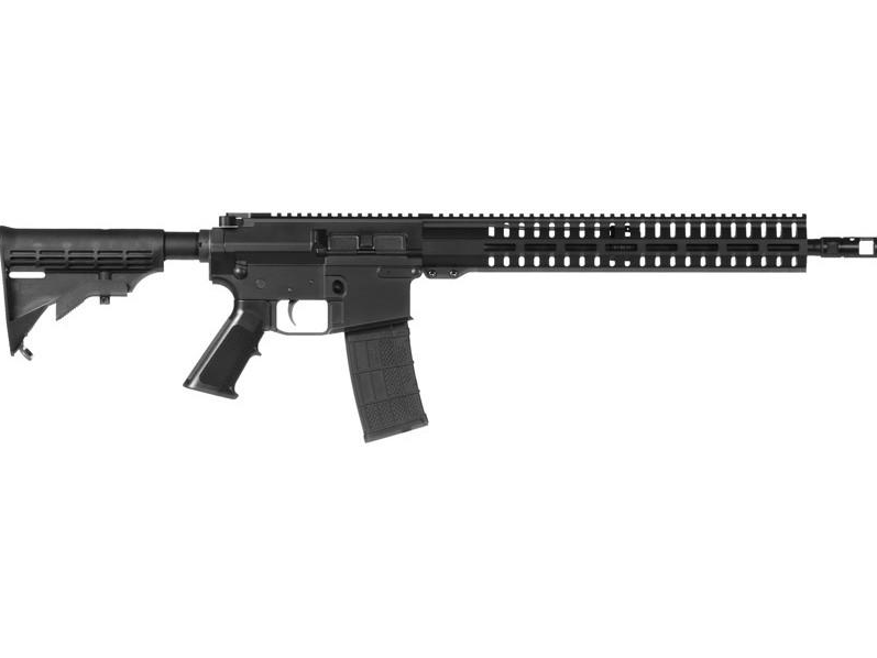 CMMG 48A7ABA Resolute 100 MKW-15 Semi-Automatic 458 SOCOM 16.1 10+1 6-Position Black Stk Black Hardcoat Anodized in.