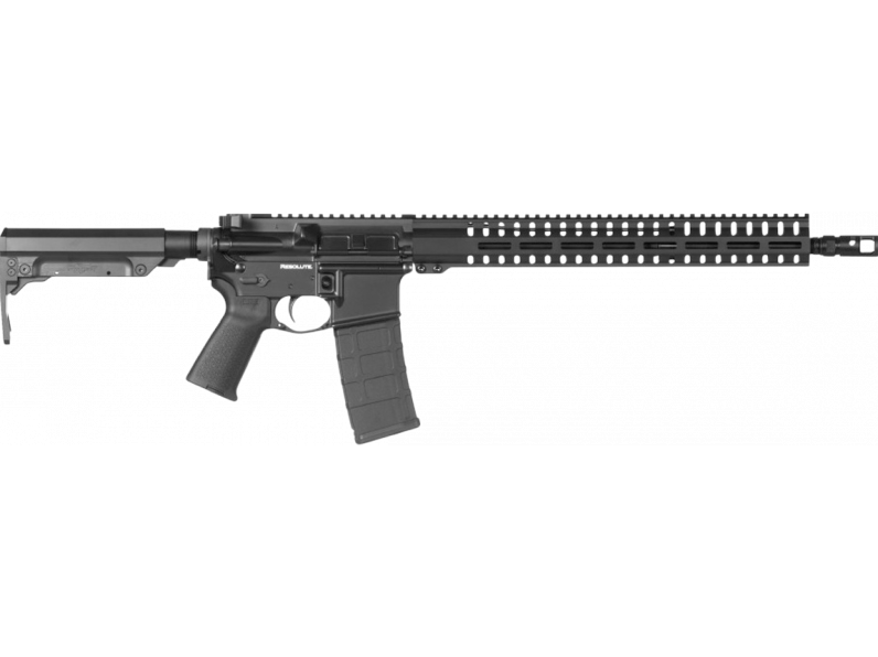 CMMG 55AC758GB Resolute 300 MK4 Semi-Automatic 5.56 NATO 16.1 30+1 6-Position Black Stk Black Hardcoat Anodized in.