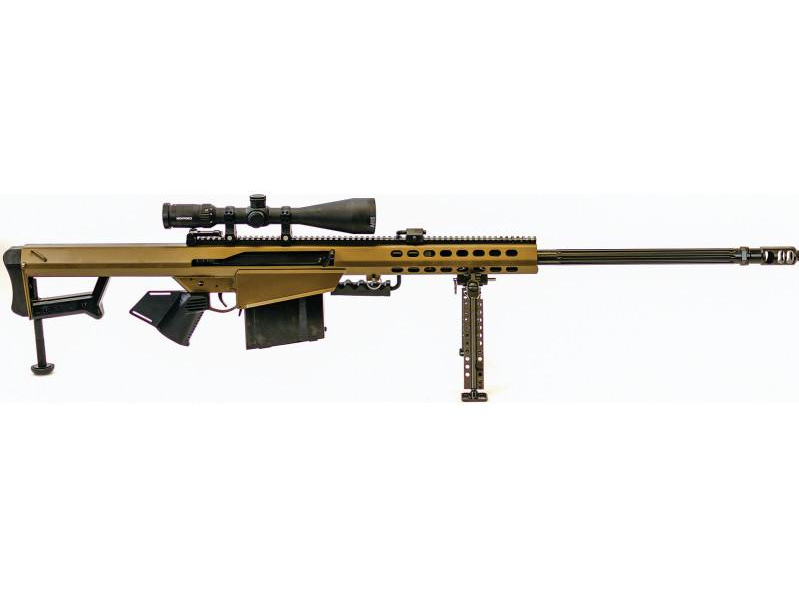 Barrett 18315 M82 A1 with Scope *CA Compliant* Semi-Automatic 416 Barrett 29 10+1 Fixed Metal Black Stk Black in.