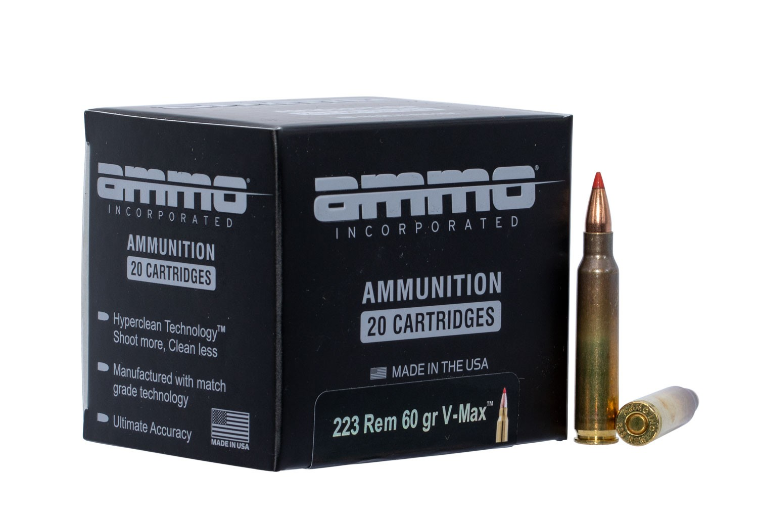 Ammo Inc 223060VMXA20 Signature .223 Remington 60 GR V-Max 20 Bx/ 10 Cs