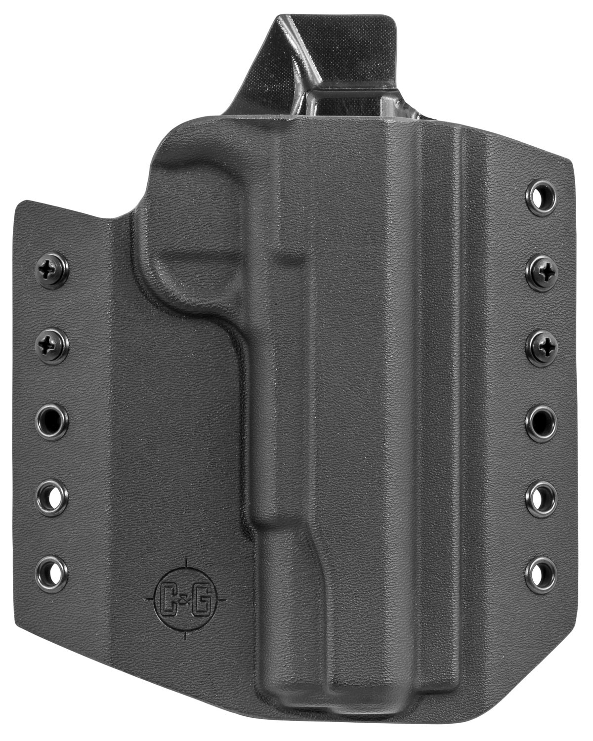 C&G HOLSTERS 021100 Covert OWB 1911 Government Kydex Black
